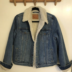 Levi's Sherpa Trucker Jacket-Denim